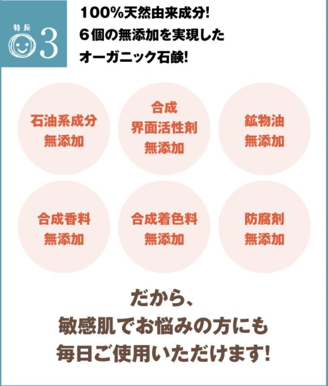 nico石鹸,特徴,効果
